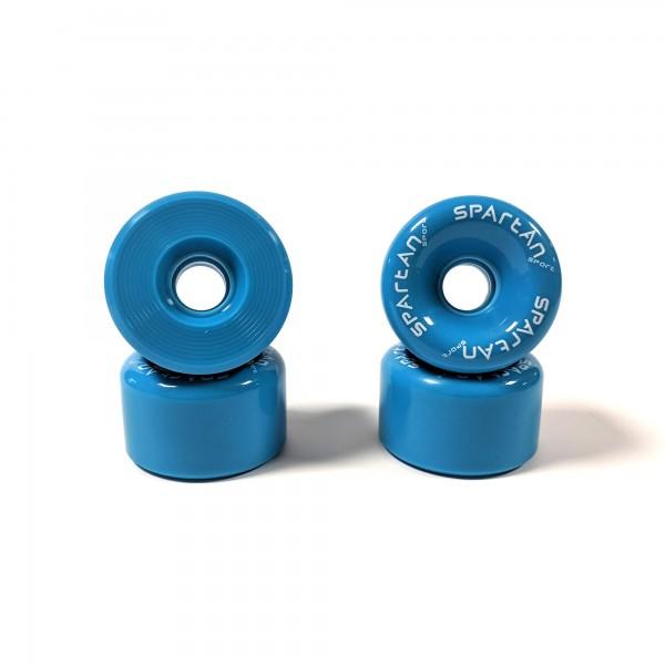 Longboard Rollen - 4 Stück 70 x 42mm, blau