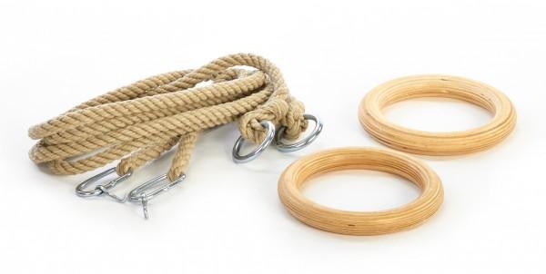 Holz Ringe Turnringe mit Seil für Kinder