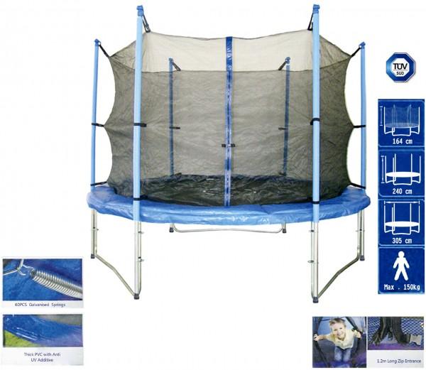 Trampolin - Ersatznetz 305 cm 3 Fußpaare innenliegend